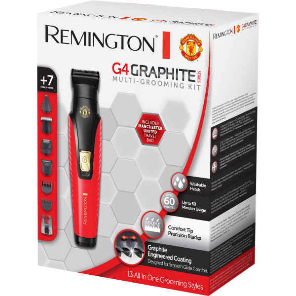 Kép 2/2 - remington-pg4005-graphite-series-g4-komplett-szertelenito-keszlet-manchester-united-edition1