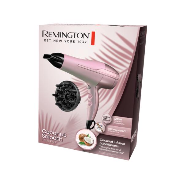 Kép 2/5 - Remington D5901 Coconut Smooth hajszárító, 2200 W
